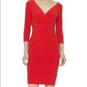 LAUREN Ralph Lauren Jersey Faux Wrap Dress